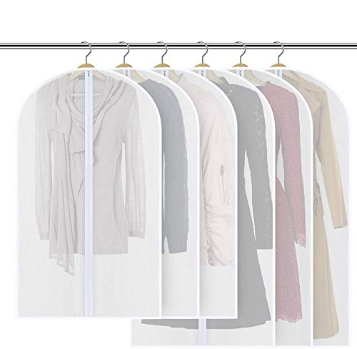 Mopoin [6 Stück] Kleidersack 120 x 60 cm + 100 x 60 cm Kleidersäcke, Hochwertiger Anzugsack / Kleiderhülle aus atmungsaktivem Material - Erstklassiger Schutz Aufbewahrung für Anzüge und Kleider