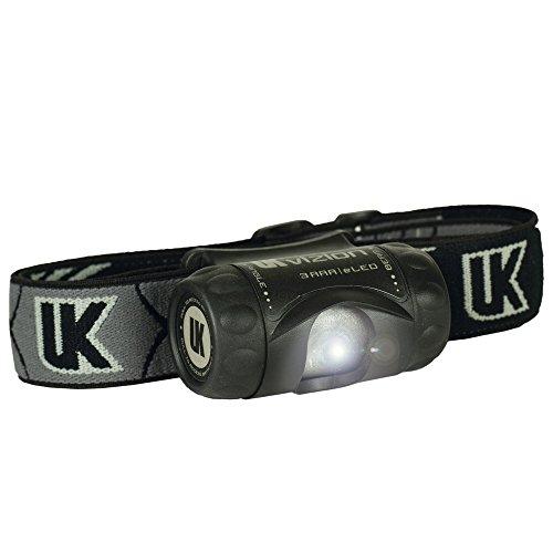 UK Lampe 3AAA LED Vizion, noir lampe frontale
