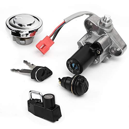Bruce & Shark Ignition Switch Fuel Cap Toolbox Seat Lock Keys for Yamaha V-STAR 650 1100 99-16