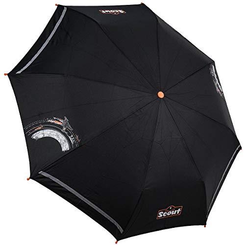Scout Kinder Regenschirm Taschenschirm Schultaschenschirm mit Reflektorstreifen extra leicht Commander