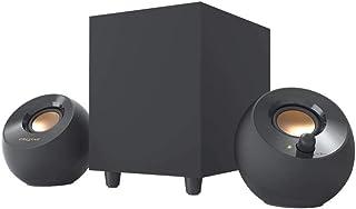سماعات سطح المكتب Creative Pebble Plus 2.1 التي تعمل باليو إس بي مع مضخم صوت قوي لإطلاق النار ومشغلات بعيدة، طاقة كاملة تص...