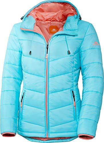 Nordcap Damen Jacke in Daunenoptik, warme Steppjacke in Türkis, tolle Übergangs- & Winterjacke, 100% Wattierung (Gr: 36-50)