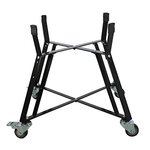 Dracarys Rolling Cart for XLarge Big Green Egg Accessories,Green Egg Rolling Nest with Heavy Duty Locking Caster Wheels Powder Coated Steel Rolling Outdoor Cart for XLarge Big Green Egg Grill Stand