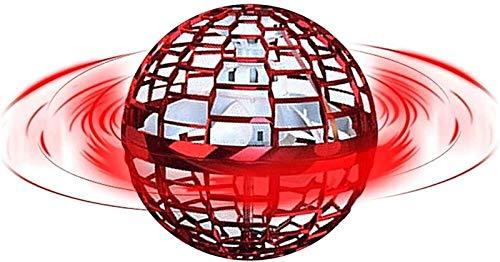 XiuLi Flynova Pro Flying Ball Toys, Controlador mágico en Forma de Globo con Cable USB, luz LED, Drones manuales, Juegos de rotación 360, Juguetes para niños, Adultos, Interior y Exterior