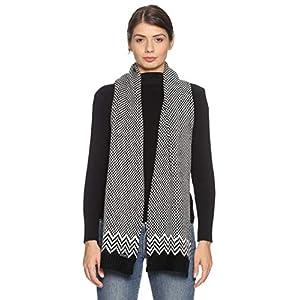 513 Unisex Acrylic Woollen Casual Winter Wear Checked Knitted Warm Premium Mufflers Black 10 41WICmO9m L. SL500 . SS300