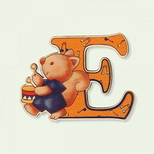 Dida - Lettre E Bois Enfant - Lettres Alphabet Bois pour Composer Le nom de Votre bébé et décorer la Chambre