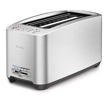 Breville BTA830XL Die-Cast Smart Toaster 4-Slice Long Slot Toaster Brushed Stainless Steel