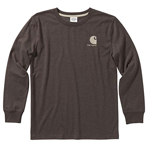 Carhartt Boys' Big Long Sleeve Graphic T-Shirt, Workwear Mustang Brown, X-Large