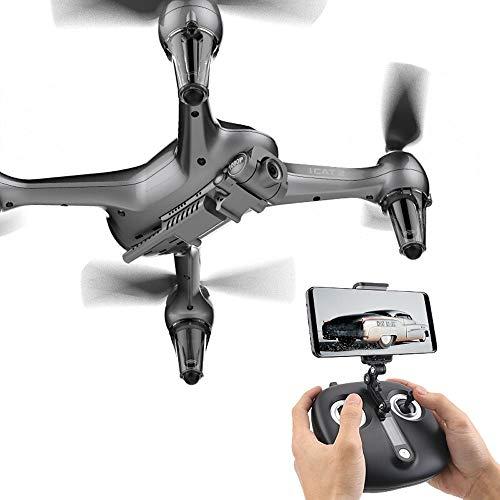 Ycco Hochauflösende Luftbildfotografie, Handy-Betrieb, Kamera WIFI FPV Quadcopter Drohne mit 8MP 1920P Live-Video für Anfänger Kinder Mobile APP Steuerung Selfie-Modus, One Key Start RC