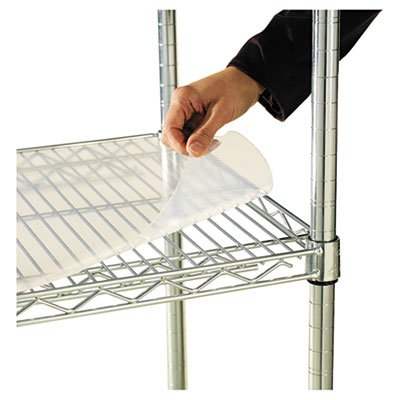 Alera ALESW59SL4824 Shelf Liners for Wire Shelving, Clear Plastic, 48w x 24d (Pack of 4)