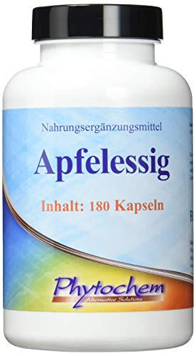 APFELESSIG | 495 mg Apfelessig Pulver pro Kapsel | 180 Kapseln | Premium Qualität aus Deutschland