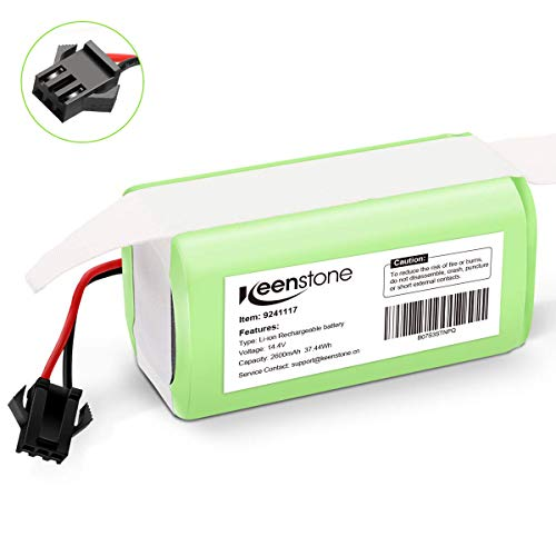Keenstone Batería de Reemplazo para Conga Excellence 990, 14.4V 2600mah Li-Ion, Compatible con Conga Excellence 990 950 1090 DEEBOT N79S N79 Eufy RoboVac 11 11S 30 30C 12 35C IKOHS NETBOT S14 S15