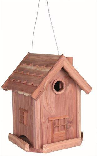 Trixie Kombination Nistkasten/Futterhaus, Zedernholz, 22 × 29 × 22 cm, natur
