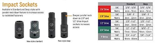 "GEARWRENCH 25 Pc. 1/2"" Drive 6 Pt. Impact Metric Socket Set, Standard - 84933N"