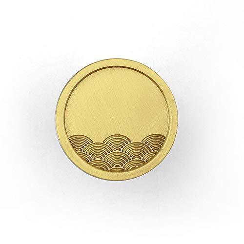 Zjcpow-HO Tirador de puerta de metal de latón macizo, pomos de cajón con patrón de nubes doradas/ondas para armario, cocina, cajones, 2 unidades (color: dorado, tamaño: 25 x 20 mm)