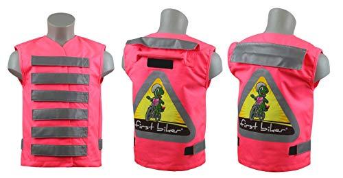 Fahrrad Sicherheit First Biker Kinder-Sicherheitsweste (Farbe: rosa)