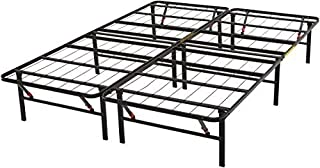 """AmazonBasics Foldable, 14"""" Metal Platform Bed Frame with Tool-Free Assembly, No Box Spring Needed - Queen"""