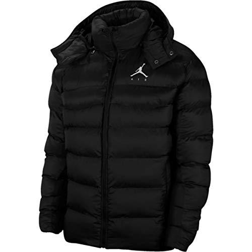 Jordan - Chaqueta de plumón para hombre con capucha Jumpman Air, color negro, cód. CK6885-010 blanco y negro L