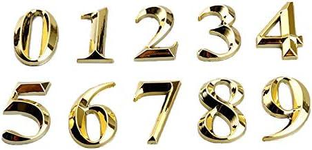 Luntus 10 St Pc Gate Cijfers 0 tot 9 Aantal Tag Numeral Deur Plaque Huis Lade Teken Plating Hotel Home Sticker Adres Deur ...