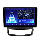 Amimilili Android 10 Radio de Coche Navegador GPS para SsangYong Korando 3 Actyon 2 2010-2013 con 4G WiFi DSP Bluetooth Carplay Control del Volante Enlace Espejo Cámara Trasera,8core WiFi+4g: 6+128g