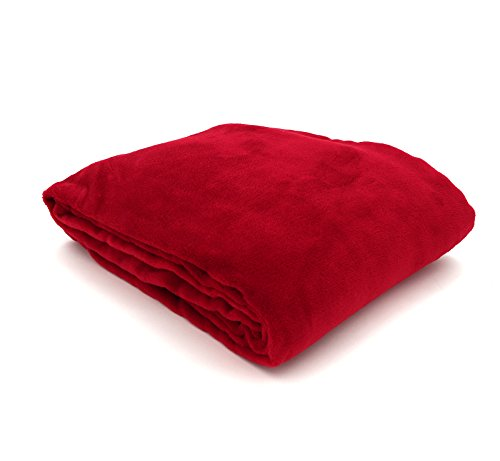 heimtexland große super weiche Kuscheldecke XL HxB 150x200 cm in rot Microfaser Flanelldecke kuschelig warm - leicht - fusselfrei Decke in TOP QUALITÄT Typ176