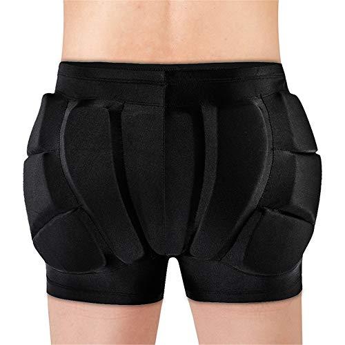 WOSAWE Short de Protection pour Homme/Femme, Respirant Hip 3D Pantalon de Rembourré pour Patinage Snowboard Ski Roller VTT Descente Rugby L