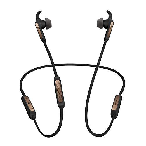 Jabra Elite 45e – Wassergeschützte Bluetooth Kopfhörer für kabelloses Telefonieren und Musik hören – Kupfer / Schwarz