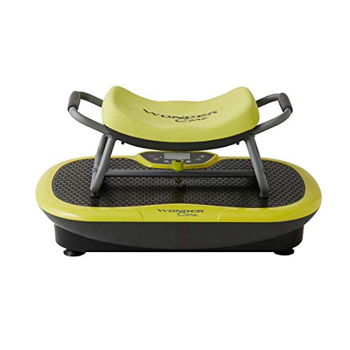 High Street TV Unisex's Wonder Core Rock N Fit Vibration Plate & Exercise Seat, Lime Green, One Size