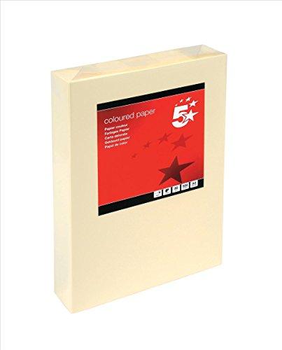 5 Star 297609 - Papel para fotocopiadora (A4, 500 unidades, 80 gsm), color crema