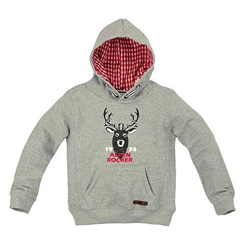 BONDI Trachten Sweatshirt ´Alpen Rocker´, Grey-Melange 110 Lederhosen Rebel Artikel-Nr.29949