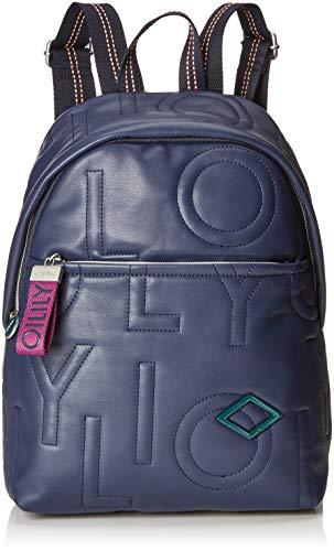 Oilily Damen Gladdy Backpack Mvz Rucksackhandtasche Blau (Dark Blue)