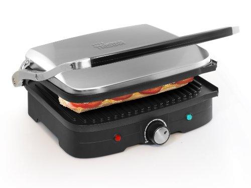 Gril viande/panini Tristar GR-2840 – Peut être utilisé comme gril de table – Avec thermostat