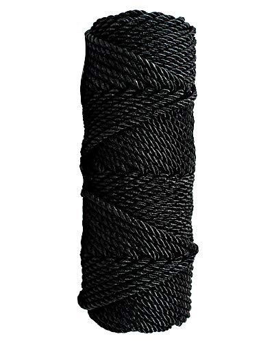 SGT KNOTS Tarred Twine - 100% Nylon Bank Line for Bushcraft, Netting, Gear Bundles, Home Improvement, Construction (#120, 1lb)