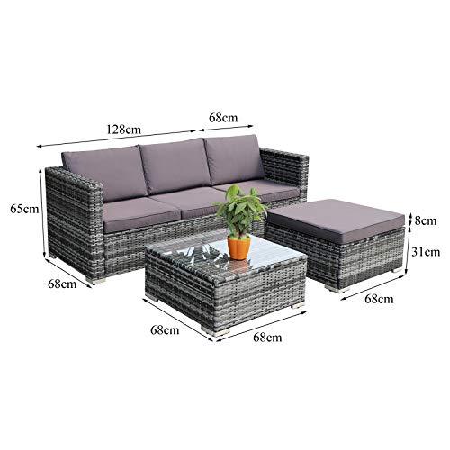 Hansson Polyrattan Gartenmöbel Lounge Set Sitzgruppe Bild 5*