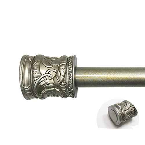 Sug Teleskop Duschvorhangstange Duschstange antike nicht perforierte Teleskop Duschvorhangstange Bronze geprägt Vorhangstange Kleiderstange (größe : 120-200cm)