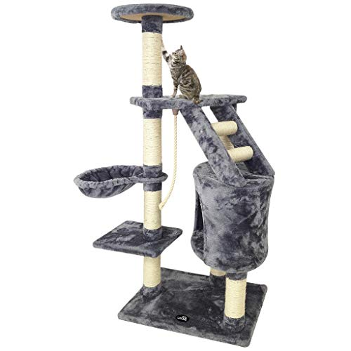 Grauer Katzenbaum - Kratzbaum aus Natursisal