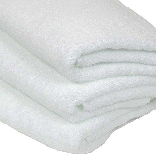 WKG 泉州製 バスタオル 3枚セット 日本製 綿100% ソフトタオル 無地 (白色)