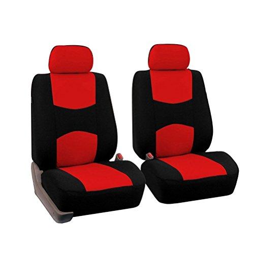 VORCOOL 2pcs Ensemble de Housse de siège de voiture Protecteur de siège Auto Universal (rouge)