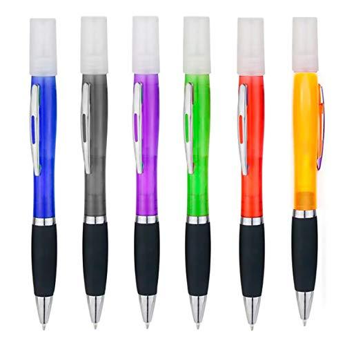 Bolígrafos con dispensador de alcohol, Dispensadores vacíos para Rellenar alcohol o perfume (6 Pcs)