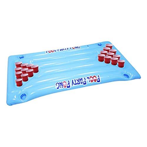 YAMMY Aufblasbare Pool-Bier-Tischtennisplatte, Riesen-Bier-Tischtennisplatte, aufblasbares Luftmatratzenbett, Party-Pool Wasser schwimmend (Pool)