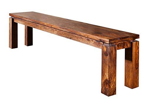 MASSIVMOEBEL24.DE Sheesham Möbel Holz massiv Bank 140x35 Palisander Life Honey Massivmöbel lackiert Metro Life #160