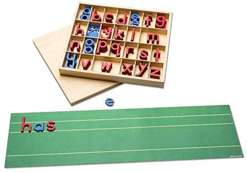 Montessori-Material zum Schriftspracherwerb fördern mit beweglichem Alphabet und Buchstabenmatte