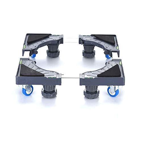 Sdesign Base Ajustable móvil Multifuncional con Goma de Bloqueo Ruedas giratorias y 4 pies Fuertes Rodillo móvil Dolly para Lavadora, Secadora y refrigerador