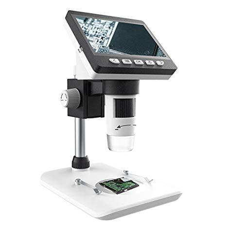Productos electrónicos Lgmin 50x-1000x 1080p Microscopio de Escritorio Digital electrónico portátil con luz LED, Tarjeta Micro SD de Soporte (32GB MAX) (Color : White)