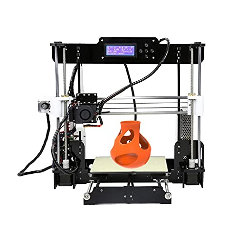 3D Printer, Detachable Metal Frame, Metal Copper Nozzle, Acrylic Seal LCD Display Surface, Desktop Industrial-Grade DIY Kit, Children's Household Multi-Function Automatic Leveling