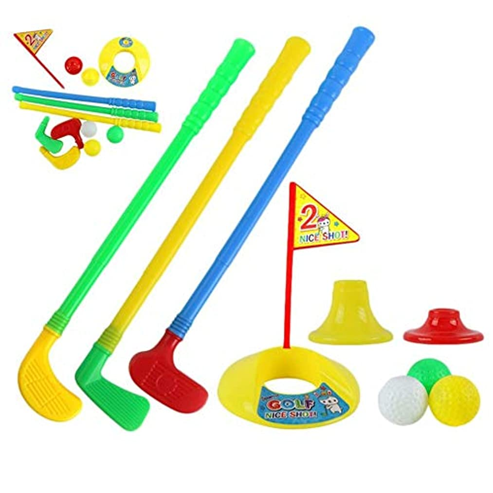 1 Set Multicolor Plastic Golf Toys for Children Outdoor Backyard Sport Game(Multicolor)
