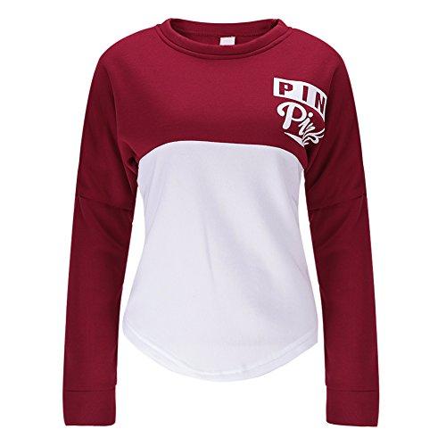 West See Damen Sweatshirts Druck Langarm Hoodies Tshirts Tops Sport Pullover Casual (EU 38(Etikett XL))