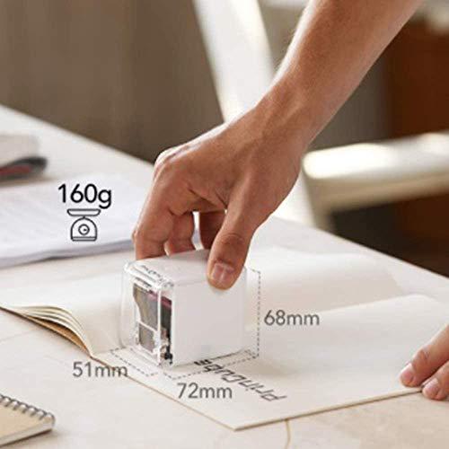 Mini impresora a color de mano extraíble inalámbrica Bluetooth portátil impresora de color móvil más pequeña