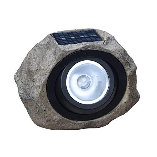 Lixada Solarbetriebene Lampe Simulation Stein Rasen licht im freien wasserdicht Landschaft Beleuchtung für gartenhof terrasse Weg