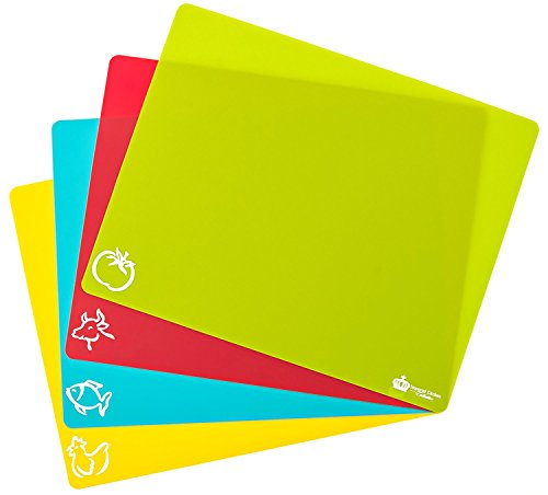 #1 Best Cutting Mat Set. Colorful Kitchen Cutting Board Set, Super Easy Clean Modern Cutting Boards, Nice Flexible Non-Stick Surface. 4 Pieces. Imperial Kitchen Collection